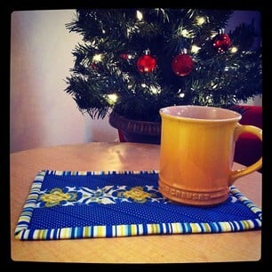 Blue + Yellow Mug Rug