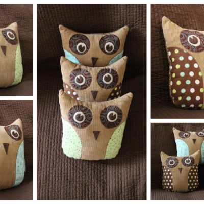 Olivier, Hootie, and The Blowfish – Owl Pillows
