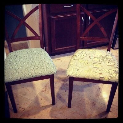 Easy updates: re-covering my dining room chairs