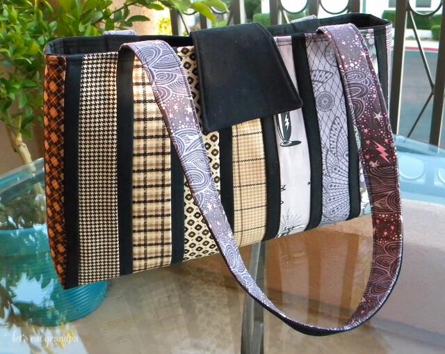 Gradations Bag by Let's Eat Grandpa, pattern by Jessica Levitt