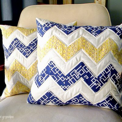 Quilted Chevron Pillows