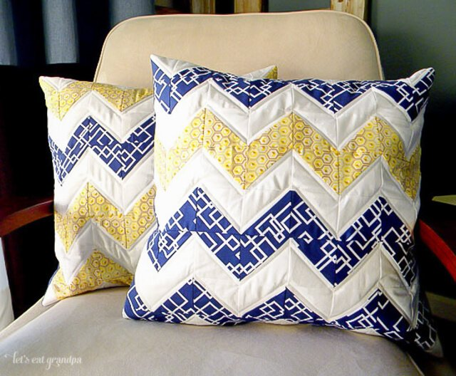 Chevron Quilted Pillows