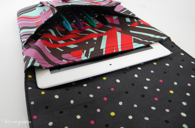 Idea Pouch -- holds an iPad or other tablet, plus pens and a notebook!