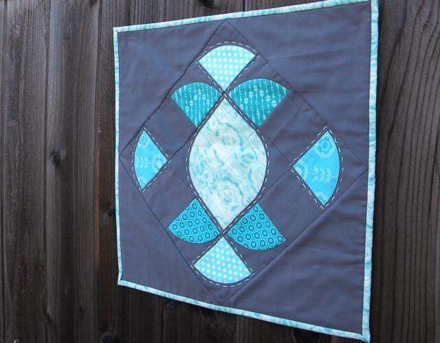 Mini Quilt with Curves
