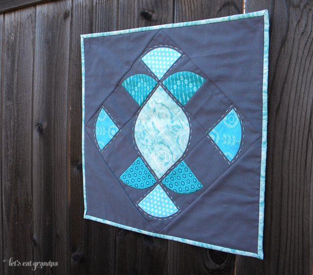 Mini Quilt with Curves by Let's Eat Grandpa