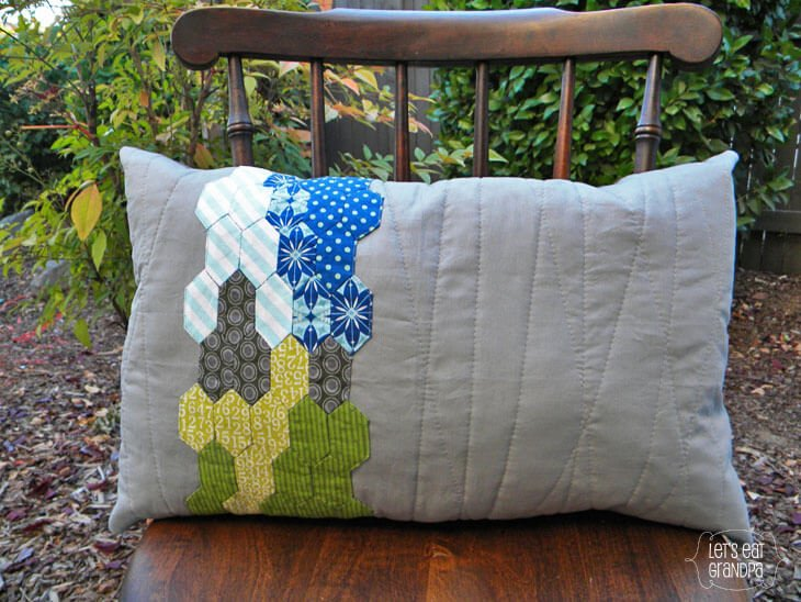 English Paper Piecing Pillow 1
