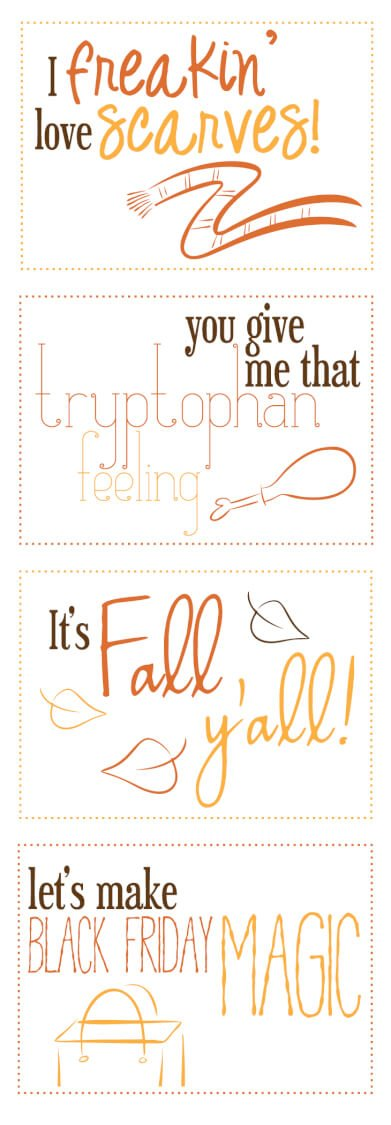 Funny Fall Printables