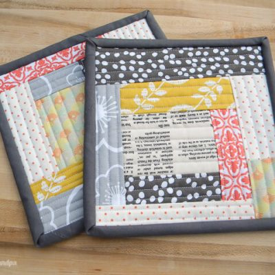 Quilt-As-You-Go Scrappy Pot Holders + Turkey Orzo Soup Recipe