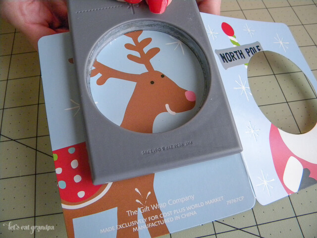 Use those old Christmas cards! Make a fun garland of memories!