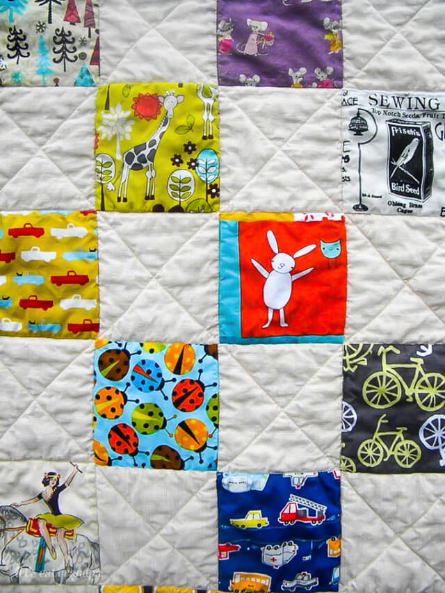 iSpy Quilt by Let's Eat Grandpa
