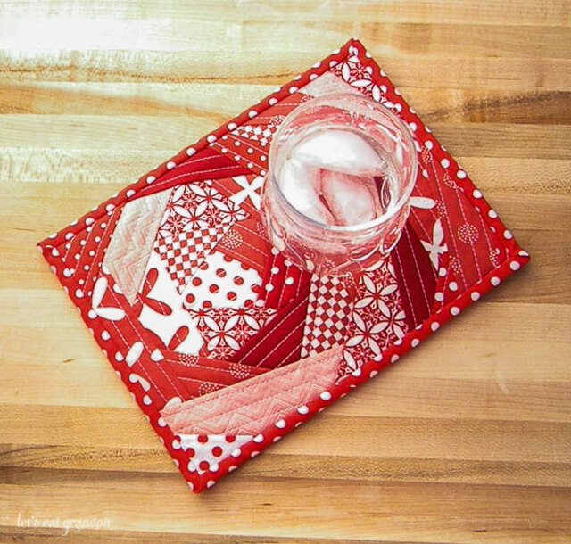 a Bloomin Quilt As You Go Mug Rug