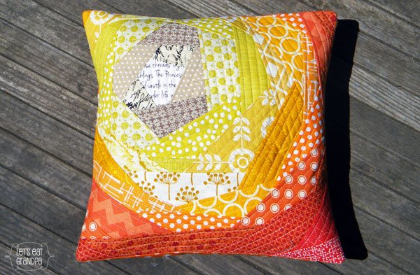 Bloomin' Quilt-As-You-Go Pillow Let's Eat Grandpa
