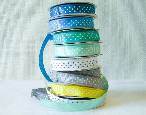stack of ribbon rolls