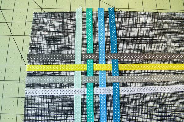Ribbon Tote in progress