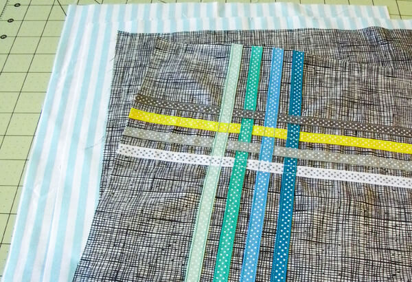Ribbon Tote on sewing mat