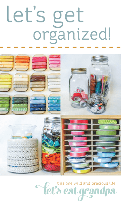 Have a bunch of ribbon lying around? Organize it!