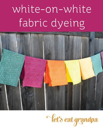 White-on-white fabric dyeing