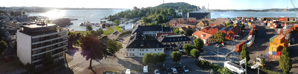 Kristiansand Norway Panorama Let's Eat Grandpa