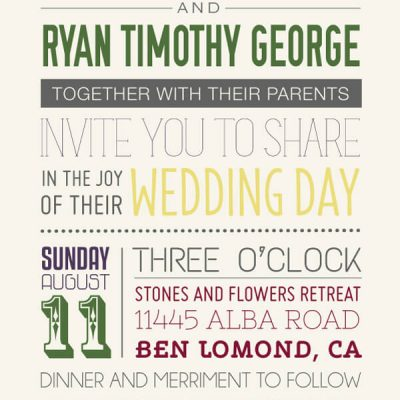 Our Wedding: Typography and More!