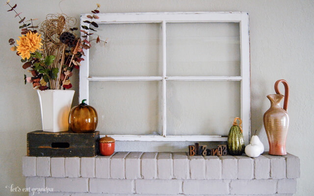 My Fall Mantel Let's Eat Grandpa
