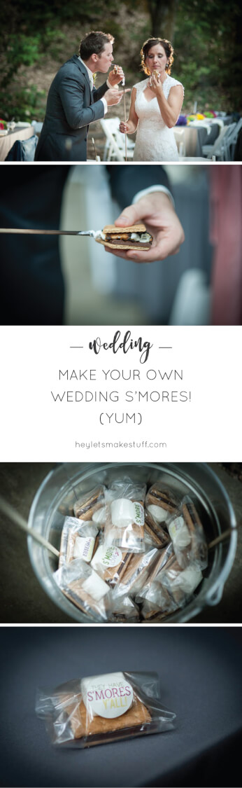 Think beyond the cake! Wedding s'mores for your guests are a fun and creative way to share a sweet treat at a wedding.