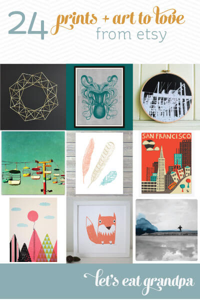 24 Prints and Art to Love from Etsy   Let's Eat Grandpa