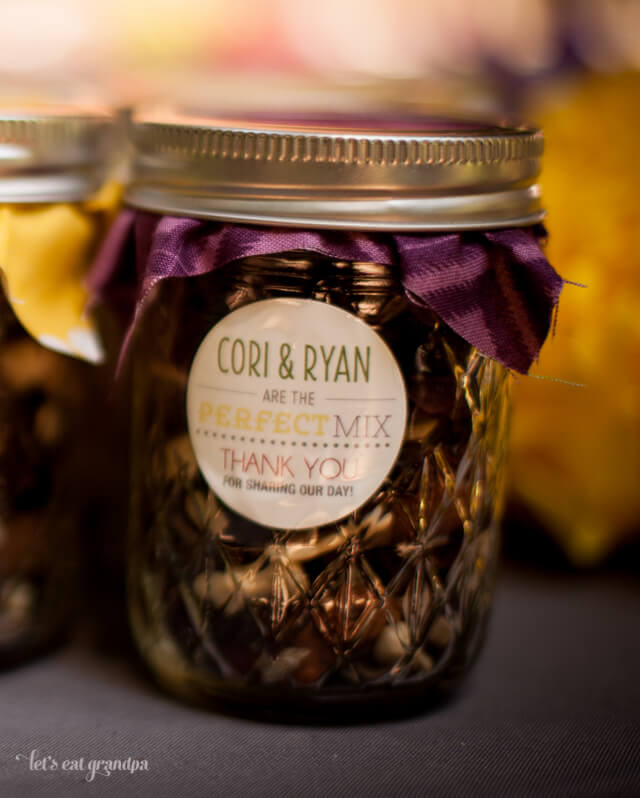 Wedding Trail Mix Favor by Let's Eat Grandpa