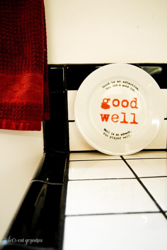 Uncommon Goods Grammar Plates Giveaway Let's Eat Grandpa