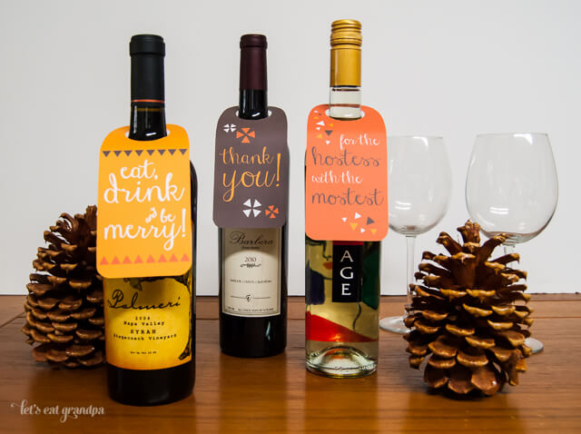 free printable wine labels for thanksgiving and christmas from lets eat grandpa