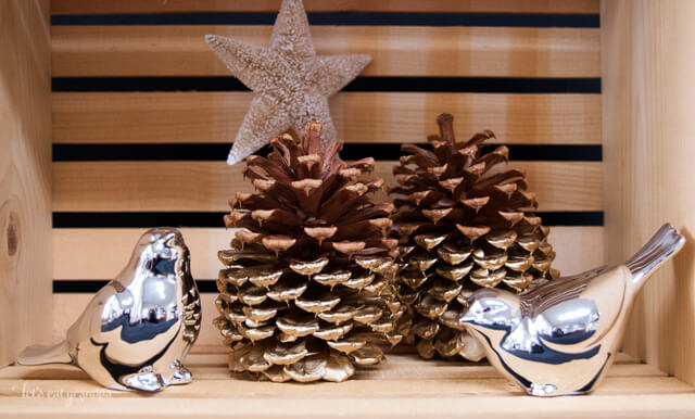 Gold Dipped Pine Cones by Let's Eat Grandpa
