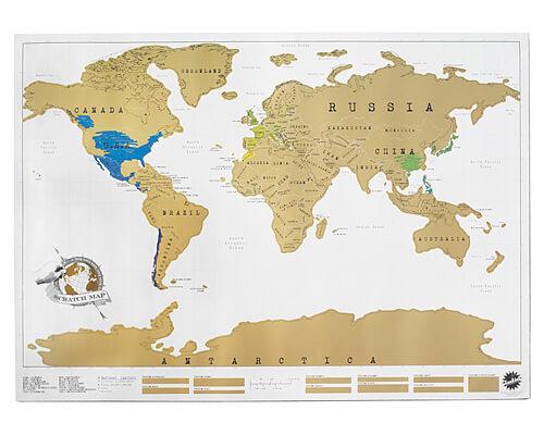 Uncommon Goods Scratch Map Let's Eat Grandpa