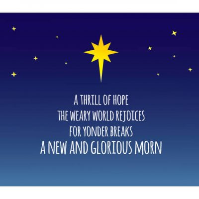 Merry Christmas, it's a new and glorious morn!