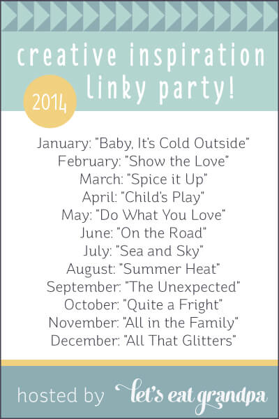 Creative Inspiration Linky Party hosted by Let's Eat Grandpa