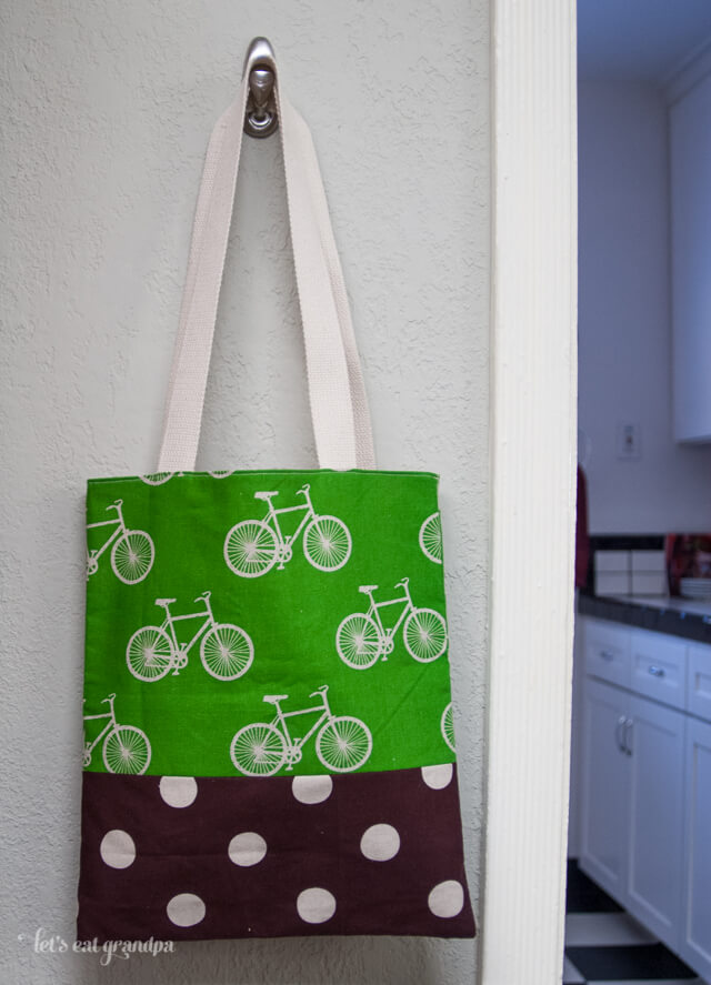 Green Linen Bicycle Bag by Let's Eat Grandpa
