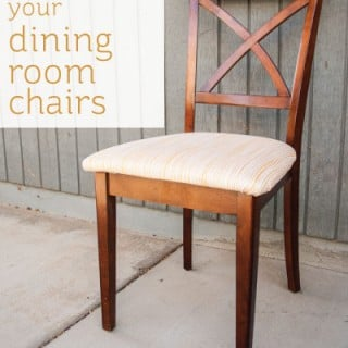 Tutorial to re-cover your dining room chairs by Let's Eat Grandpa
