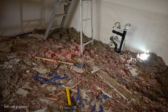 Real Life Renovation - Kitchen Demolition   Let's Eat Grandpa