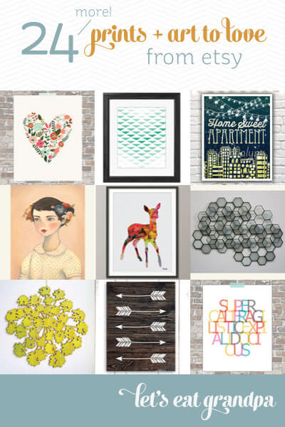 24 More Prints and Art to Love from Etsy by Let's Eat Grandpa