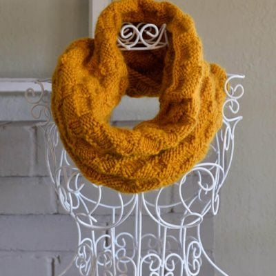 Basket-Weave Cowl – My First Knitting Project!