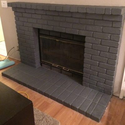 Seven(ty six) Easy Steps to Paint a Brick Fireplace