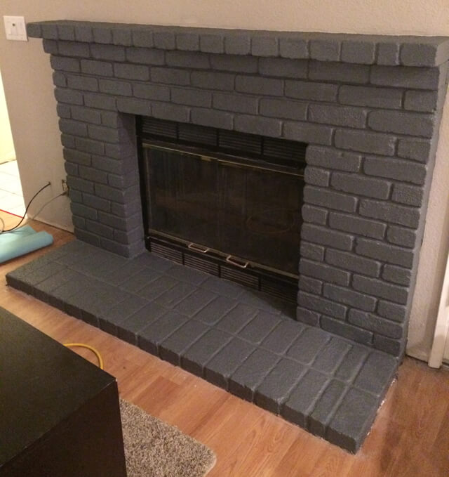 Seven Ty Six Easy Steps To Paint A Brick Fireplace