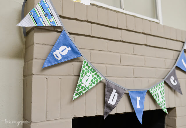 Personalized Pennants by Let's Eat Grandpa