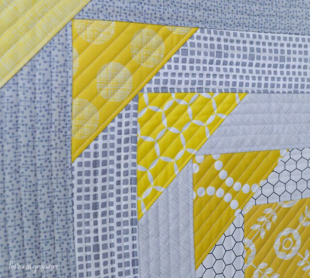 close up of finished North West Quilt-As-You-Go Panel