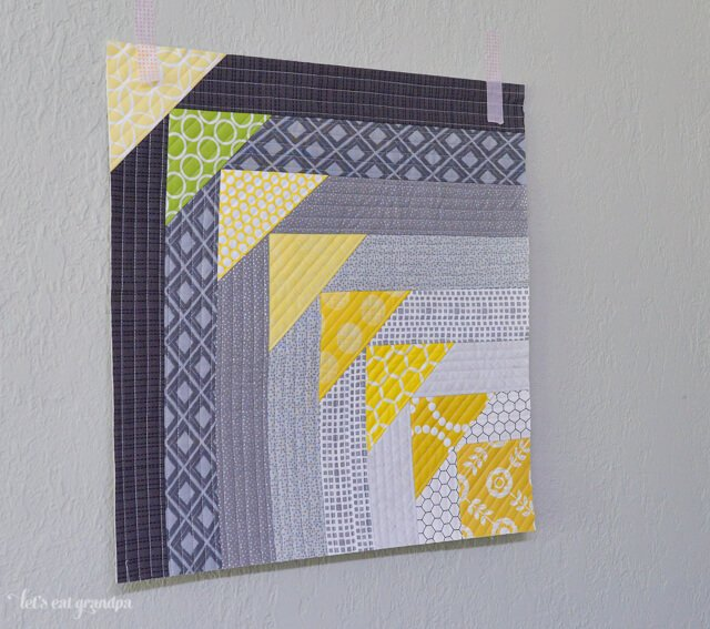 finished North West Quilt-As-You-Go Panel hung up