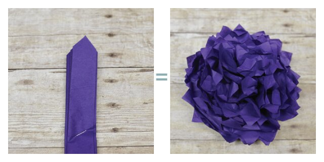 Tissue paper flowers - petal points