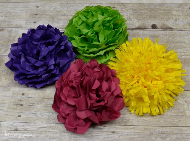 How to make tissue paper flowers four ways hey lets make stuff tissue paper flowers make a gorgeous budget wedding centerpiece learn how to make four different mightylinksfo Gallery