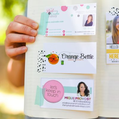Organize with a Business Card Smashbook