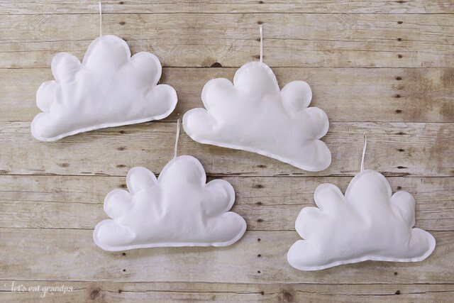 Handmade puffy clouds available from Let's Eat Grandpa's Etsy Shop