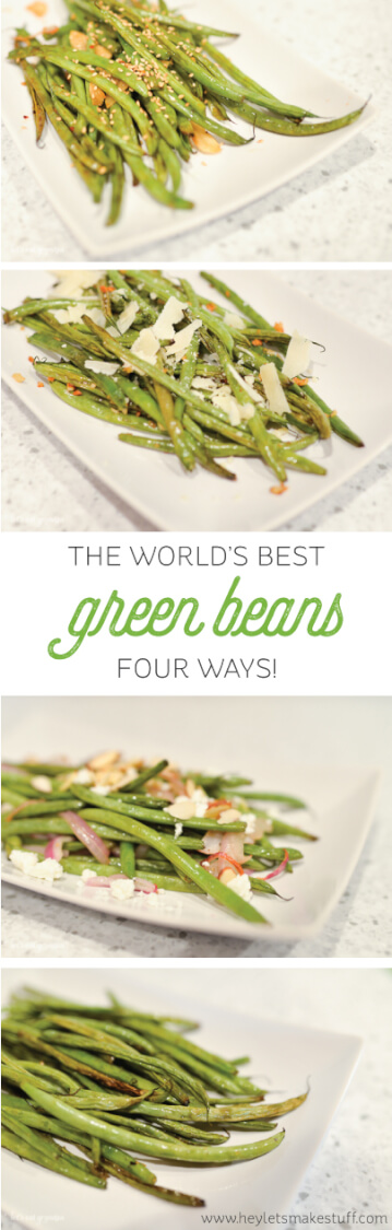 Recipe for my absolute favorite green beans, cooked four ways!