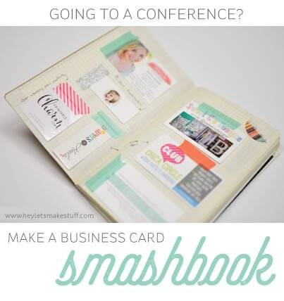 Organize with a Business Card Smashbook Hey Let s Make