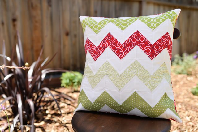 Quilted Chevron Pillow by Let's Eat Grandpa